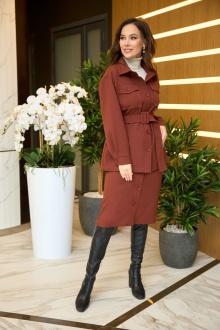жакет,  юбка Anastasiya Mak 911 коричневый