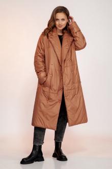 пальто Dilana VIP 1752 карамель