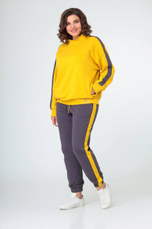 брюки,  джемпер Danaida 2002 шафрановый+графит