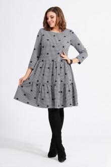 платье Милора-стиль 822 горохи_серый