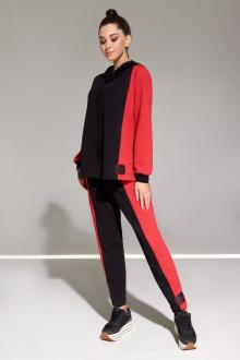 брюки,  джемпер Allure 1014А красный
