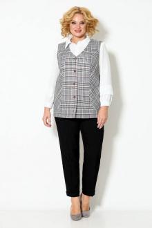 блуза,  брюки,  жилет TrikoTex Stil М2520 черный