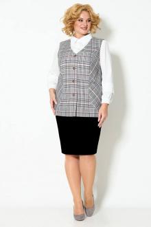 блуза,  жилет,  юбка TrikoTex Stil М2520ю черный