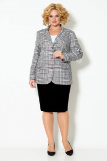 блуза,  жакет,  юбка TrikoTex Stil М2821ю черный