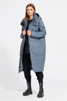 пальто EOLA 2079 серо-синий