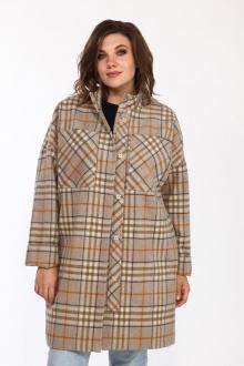 пальто Lady Style Classic 2195/1 бежевая_клетка