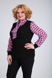 блуза SOVITA M-107 розовые_пятнышки