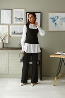 брюки,  жилет,  рубашка LadisLine 1393 черный