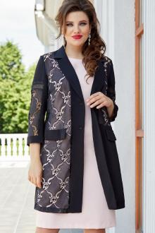 жакет,  платье Vittoria Queen 14673/1 черный-розовый