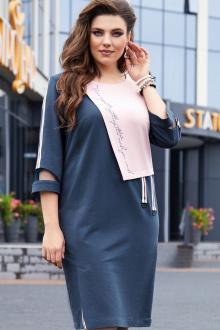 платье Vittoria Queen 14513 темно_синий-розовый