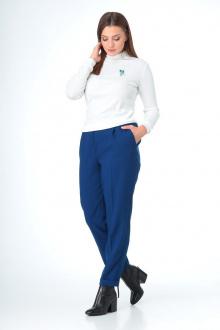 брюки,  водолазка T&N 7086 белый-синий
