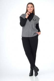 брюки,  водолазка,  жилет T&N 7100 серый_черный