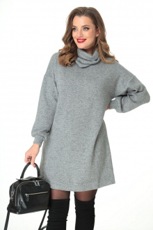 платье, воротник T&N 7104 серый