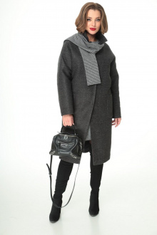 пальто, шарф T&N 7106 графит