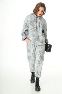 брюки, худи T&N 7107 серый-мрамор
