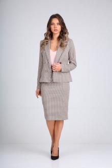 жакет,  юбка SandyNa 130504  гусиная_лапка-бордо
