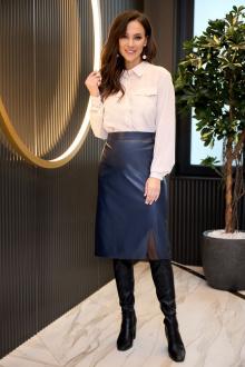 блуза,  юбка Anastasiya Mak 937 синий