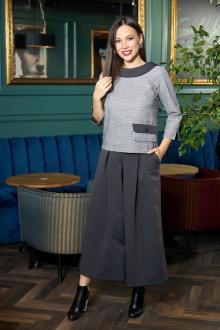 блуза,  кюлоты Anastasia 698 графитовый
