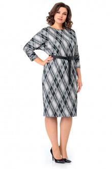 платье Мишель стиль 1001 бежево-черный