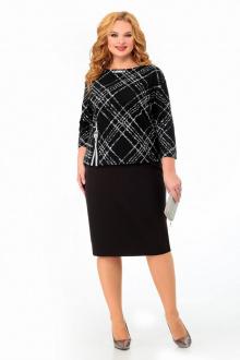 блуза,  юбка Мишель стиль 993 черно-белый