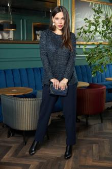 брюки,  джемпер Anastasia 705 т.синий