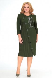 платье Мишель стиль 992 зеленый