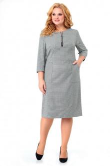 платье Мишель стиль 980 серо-зеленый