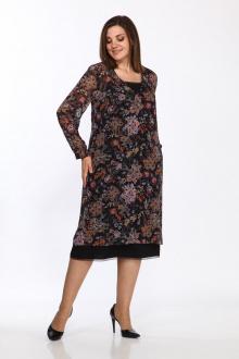 платье,  туника Lady Style Classic 2381 черно-бежевый