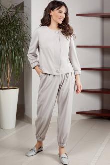 брюки,  жакет Teffi Style L-1562 жемчуг