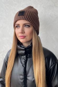 шапка Favorini 31080 коричневый