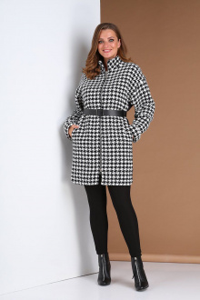 Пальто Andrea Style 409 черно-белый