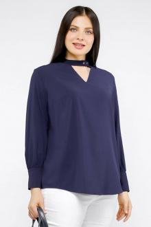 блуза La rouge 61281 темно-синий