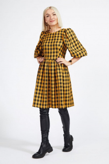 Платье Милора-стиль 943 горчица