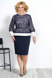 блуза,  юбка Alani Collection 1536 синий