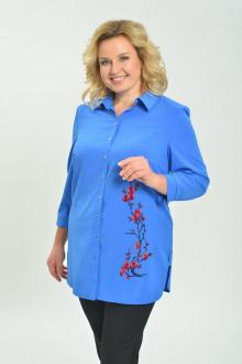 Блуза Ga-Ta Style 1805/1 голубой+красный