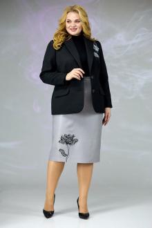Женский костюм Angelina & Сompany 613 черный_серый
