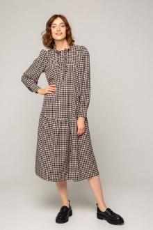 Платье Ivera 1050 бежевый, черный