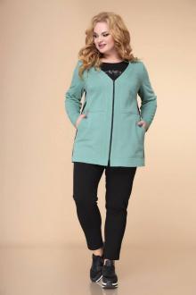 блуза,  брюки,  кардиган Romanovich Style 3-2235 мята/черный