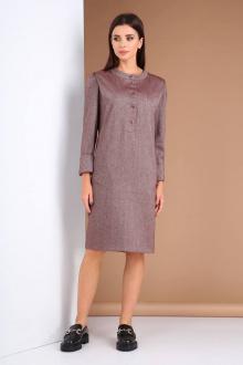 Платье Viola Style 0983 бордовый_меланж