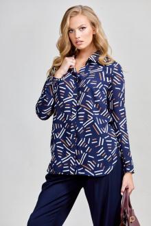 блуза Teffi Style L-1596 синий