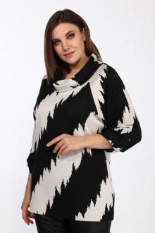 джемпер Lady Style Classic 2333/1 черный-молочный