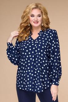 Блуза Svetlana-Style 1709 синий+горох