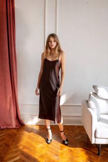 Платье KRASA МБ0121-21 шоколад
