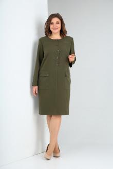 Платье Ксения Стиль 1946 олива