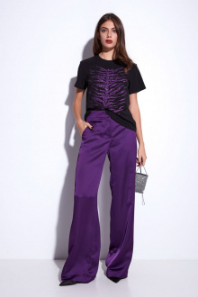 Джемпер Favorini 31865 черный+фиолетовый