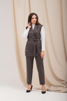 блуза,  брюки,  жилет Angelina 6311 шоколад