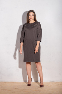 Платье Angelina 634 коричневый