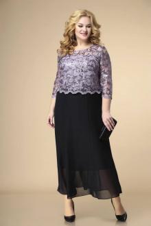 Платье Romanovich Style 1-1789 сирень+черный