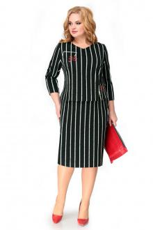 платье Мишель стиль 1004 молочный+черный