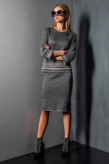 Джемпер Barbara Geratti by Elma 1179В темно-серый/серый